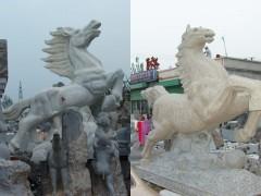 供应石雕马,大象老鹰骏马,驷马聚首石雕动物等