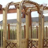 供应供应优质防腐木花架,古船木花架