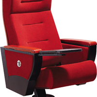 供应演播厅专用椅、带水杯架和写字板剧院椅