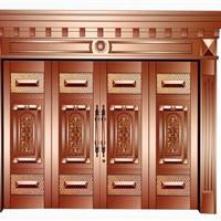 上海如雅四开铜门 各种铜门铜窗加工上门安装 酒店宾馆旋转铜门