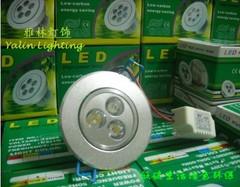 供应LED天花灯3W,LED节能灯,天花射灯