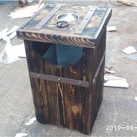 垃圾桶厂家(振兴)垃圾桶为实木结构