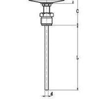轴向型双金属温度计WSS-300【畅销大江南北】
