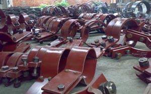A6重型双螺栓管夹,厂家供货