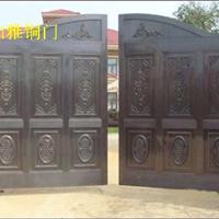 车库铜门生产厂家 上海如雅铜门厂家直销 玻璃铜门 对开铜门