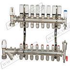 专业生产地暖分水器,整体锻造分水器