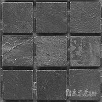 石材马赛克-黑板岩-49哑面-鱼之乐