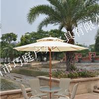 批发供应双层实木户外太阳伞实木庭院遮阳伞