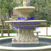 淄博石雕喷泉|黄锈石喷泉价格|石材水钵批发