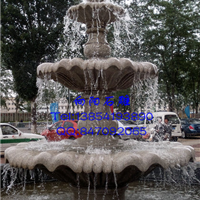 上海石雕五莲红、黄锈石石雕喷泉水钵现货