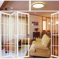 供应白色折叠门客厅折门批发价格