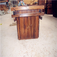 供应樟子松防腐木/碳化木花箱/户外园艺设施