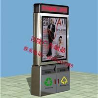 供应扬州垃圾箱换画灯箱,街道环保垃圾箱