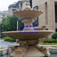 莘县石雕喷泉水钵|景观喷泉石雕|黄锈石喷泉