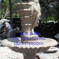 石雕喷泉水钵|石雕九鱼喷泉|景观用石材喷泉