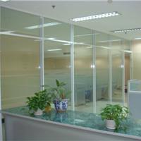 厂家供应南昌办公玻璃隔断隔间铝型材 百叶帘批发 活动隔墙