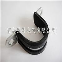 供应山东包塑双面管夹,电缆卡子,电缆线夹