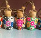 供应软陶挂件香水瓶-方扁-迪沃工艺品