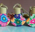 供应软陶挂件香水瓶-斧头-迪沃工艺品