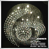 餐厅现代水晶灯,高档会所现代水晶灯具