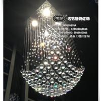 别墅楼梯水晶灯,艺术现代水晶灯批发