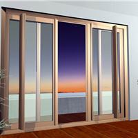 供应高端别墅120系列铝金重型推拉纱门纱窗