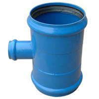 承插柔性连接钢塑管件,大口径给水三通,