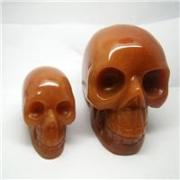 【厂家直销】供应天然红东陵骷髅头雕刻