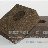 供应软木橡胶减振垫 机床减震降噪垫