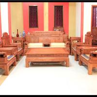 供应檀雕红木沙发财源滚滚沙发双面雕刻沙发