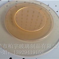 厂家供应各种规格茶色进口肖特微晶玻璃面板