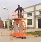 供应广西双桅柱铝合金升降平台升降机