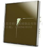 供应各式各样规格的丝引的开关面板玻璃片