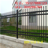 供应小区围墙锌钢护栏 双向交叉锌钢护栏