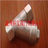 供应4寸 CF8/CF8M GL11W Y型螺纹过滤器
