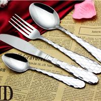 西餐刀叉餐具四件套高档锤点厂家直销