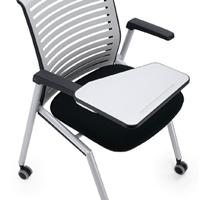 高档品牌培训椅带可折叠书写板