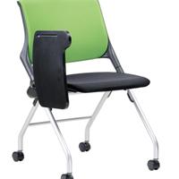 供应高档时尚洽谈会议椅可折叠带写字板