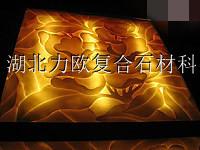 供应艺术透光板-灯柱-人造石-力欧石材