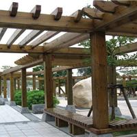 仿木花架,葡萄架,架子,水泥架