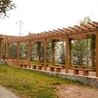 仿木花架,钢筋混凝土制品,来图加工