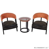 绿欣轩 藤椅茶几三件套 阳台桌椅组合8004
