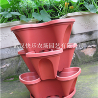 三层立体小型花盆(梅花三瓣)