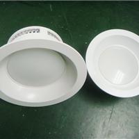 3寸白色塑胶筒灯外壳配件 防火筒灯外壳
