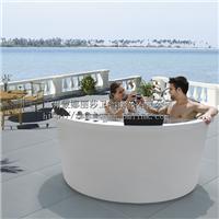 酒店豪华按摩冲浪圆形亚克力浴缸水疗浴池SPA户外大缸卫浴