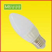 LED蜡烛灯3w陶瓷散热 PC罩 厂家直销