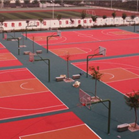 天津室外篮球场地拼装悬浮式地板免费安装