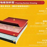 天津高档乒乓球馆塑胶运动地板天津布纹地板