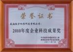 2010年度企业科技成果奖