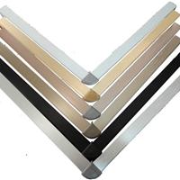 厂家大量生产各种拉丝铝合金踢脚线